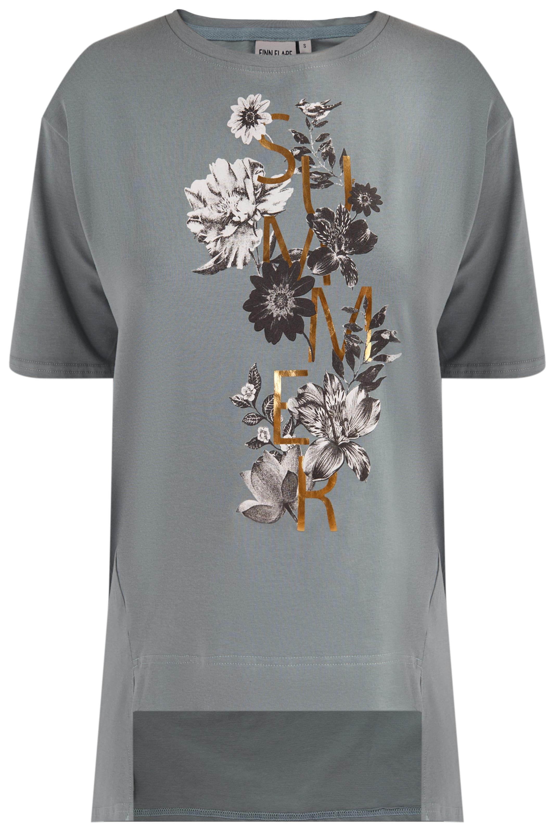 In Finn Weiß GoldDunkelgrau T Schwarz Flare shirt OPkZXiu