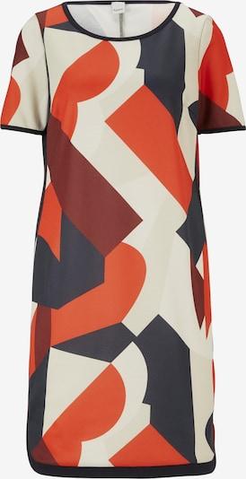 Suknelė iš heine , spalva - pilka / raudona / balta, Prekių apžvalga