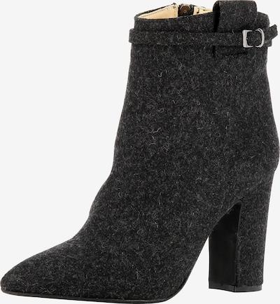EVITA Damen Stiefelette in schwarz / schwarzmeliert: Frontalansicht