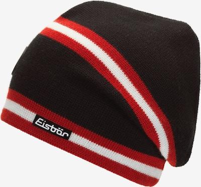 Eisbär Strickmütze 'Old-School' in rot / schwarz / weiß, Produktansicht