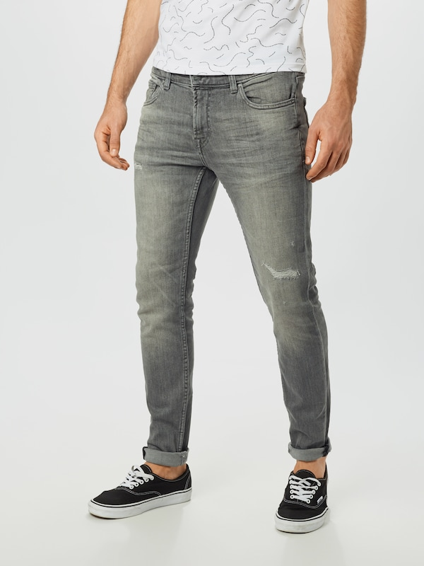 Only & Sons Jeans in grey denim, Modelansicht