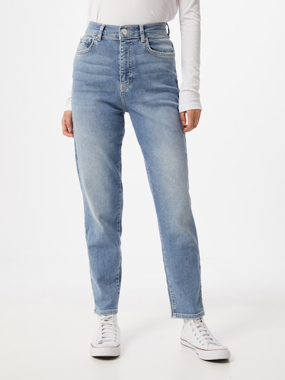 Gina Tricot Jeans 'Comfy' in de kleur Blauw denim, Modelweergave