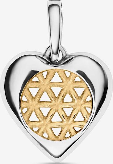 FAVS Anhänger 'Herz' in gold / silber, Produktansicht