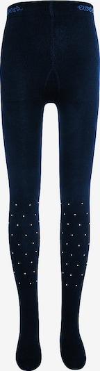 EWERS Strickstrumpfhose mit Strasssteinchen in blau, Produktansicht