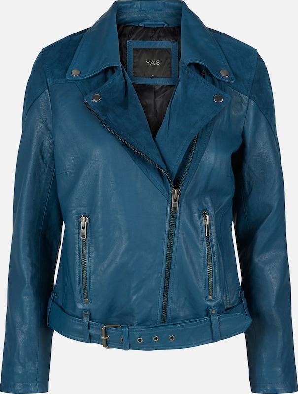 Y.A.S Biker Lederjacke in blau  Bequem und günstig günstig günstig 33bfb3