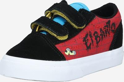 VANS Baskets 'Old Skool V' en bleu clair / rouge / noir, Vue avec produit