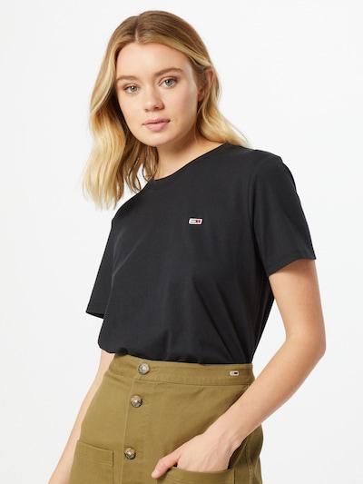 Tommy Jeans T-shirt en noir: Vue de face