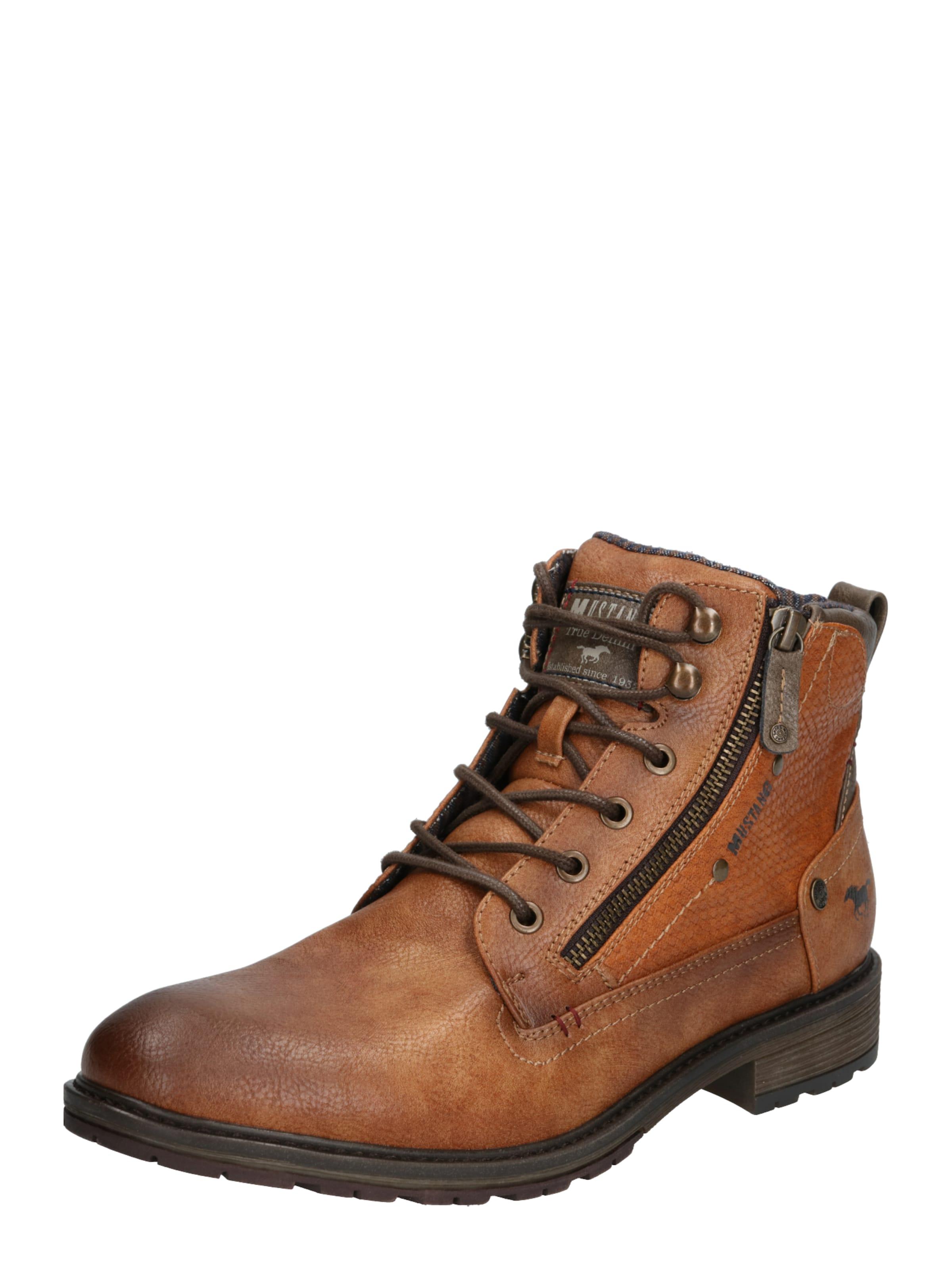 boot' In Mustang Stiefel 'schnür Kastanienbraun hBsrxtQdCo