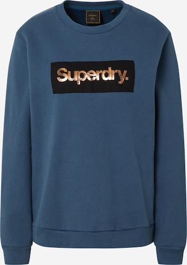 Superdry Sweater majica u plava / zlatna / crna, Pregled proizvoda