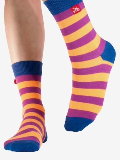 Tag SOCKS Socken 'Stars & Stripes' in navy / lila / orange, Modelansicht