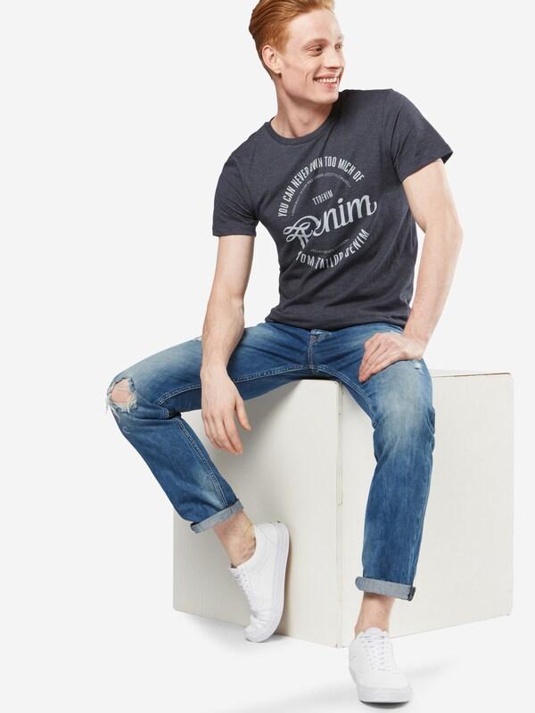 Tom Tailor Denim T-shirt Nos Melange Tee With Print
