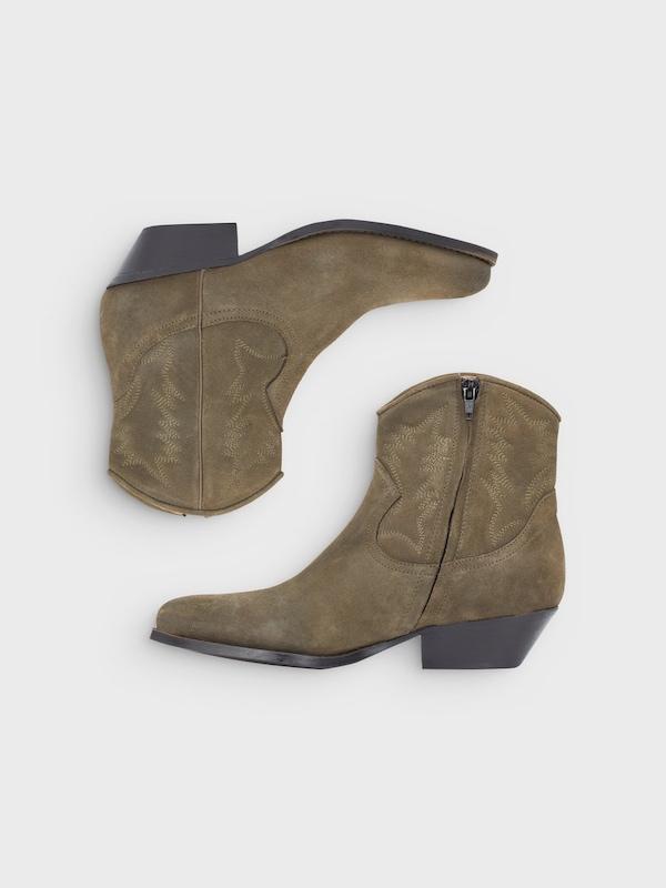 Bianco Western-Wildleder-Stiefel
