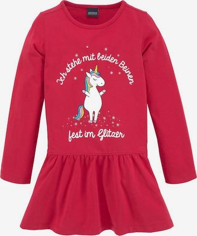 ARIZONA Kleid 'Einhorn' in rot / weiß, Produktansicht