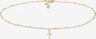 ELLI Choker 'Kreuz' in gold: Frontalansicht
