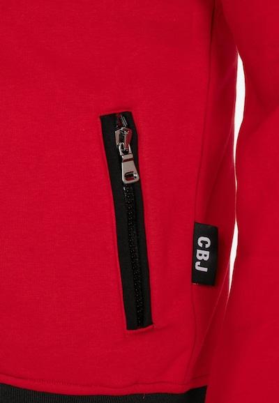 CIPO & BAXX Sweatjacke in rot / schwarz / weiß: Frontalansicht