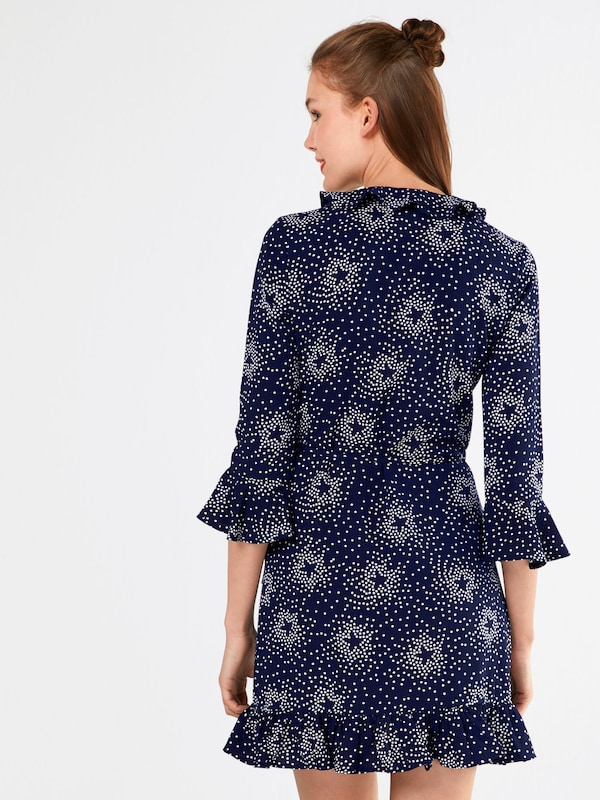 'bethany Boohoo NuitBlanc Robe Floral' Bleu En 0ONvwm8n