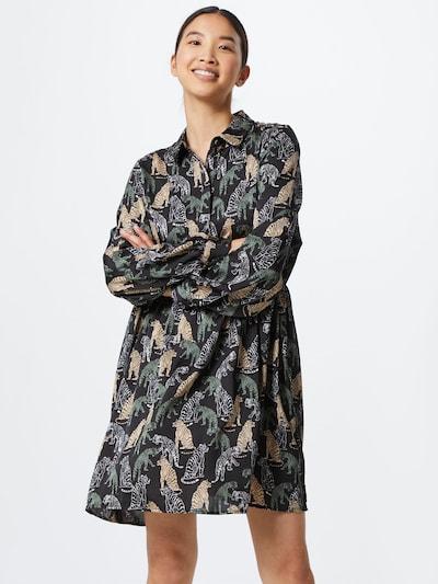 Palaidinės tipo suknelė 'VMLotus' iš VERO MODA , spalva - smėlio / žalia / juoda / balta, Modelio vaizdas