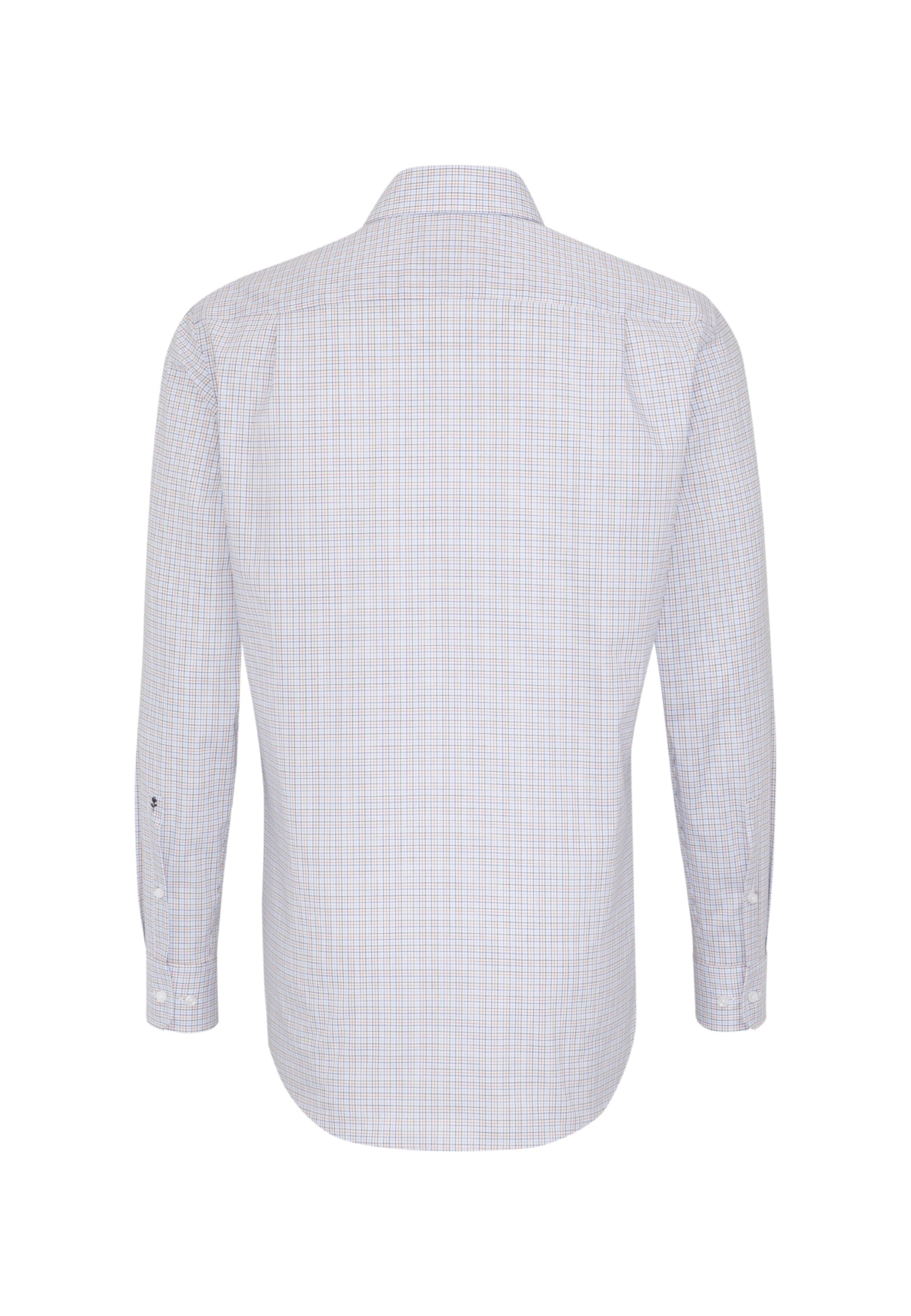 Hemd BlaumeliertOrange Weiß Seidensticker 'modern' In qUVSpMLzG