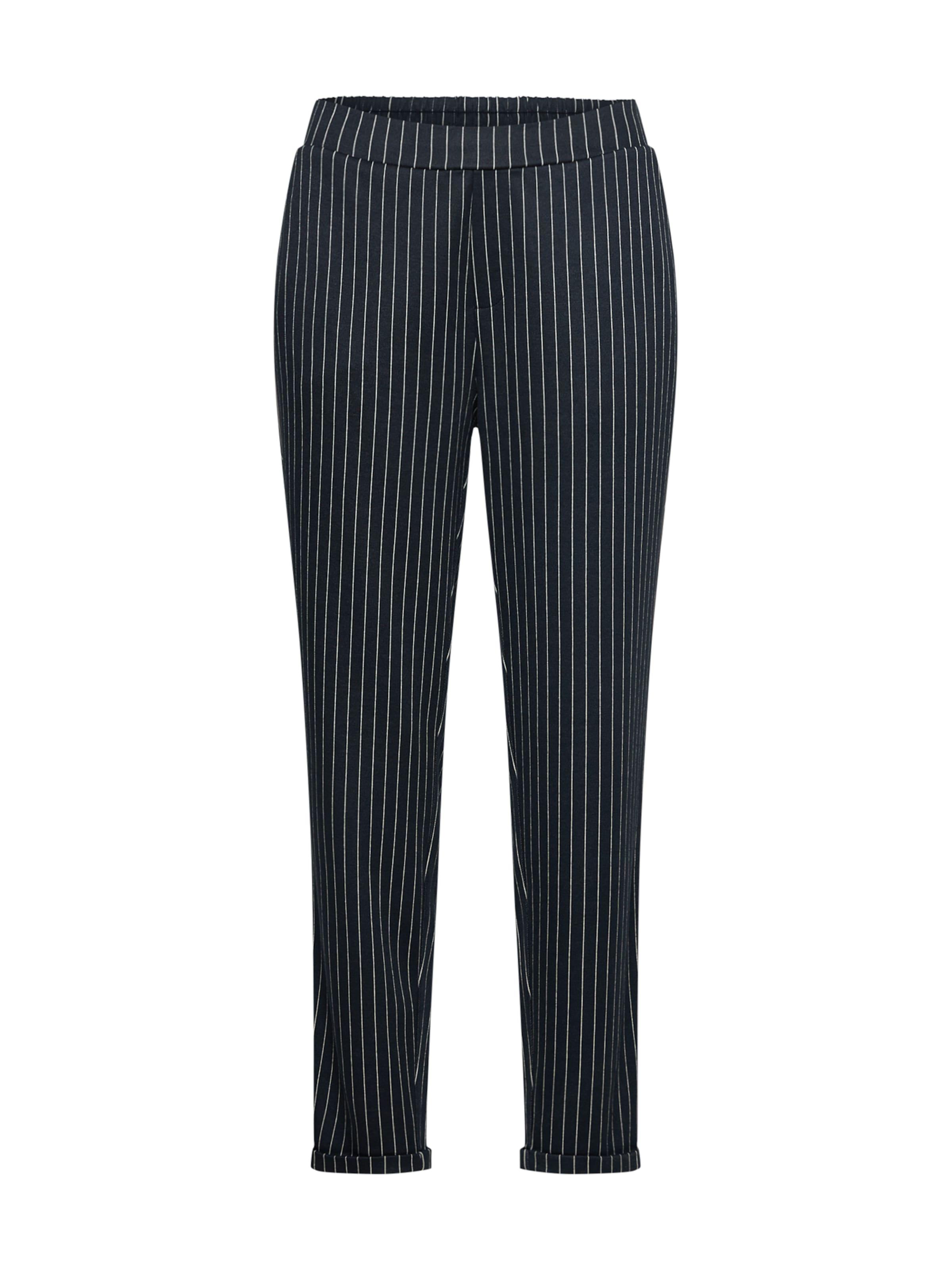 OBJECT Élére vasalt nadrágok tengerészkék / fehér színben