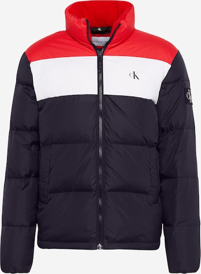 Calvin Klein Jeans Jacke in rot / schwarz / weiß, Produktansicht