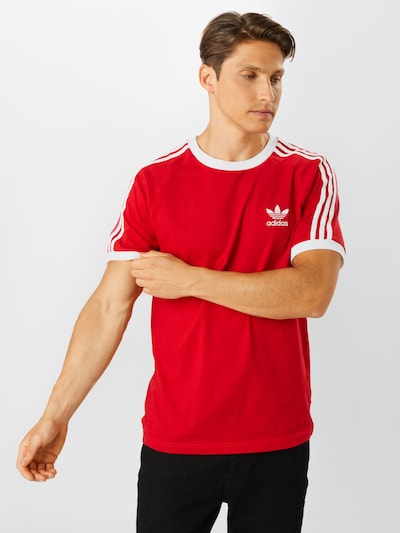 ADIDAS ORIGINALS T-Shirt '3-Stripes' en rouge / blanc: Vue de face