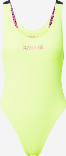 Calvin Klein Swimwear Badeanzug 'SCOOP' in gelb, Produktansicht