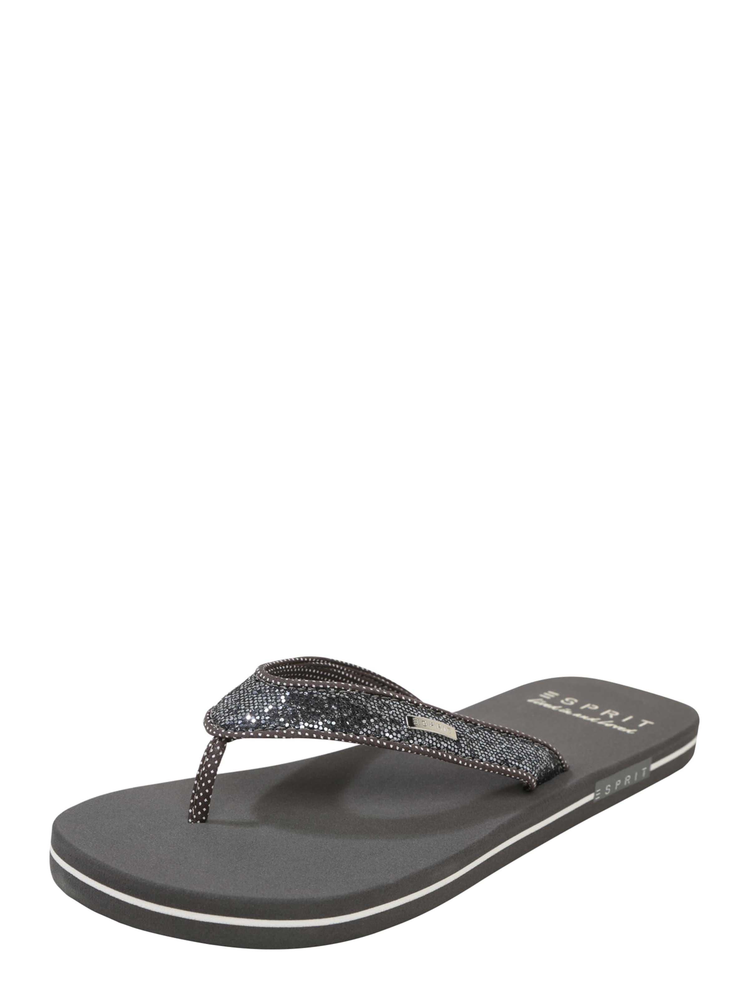 ESPRIT Zehentrenner Glitter Verschleißfeste billige Schuhe