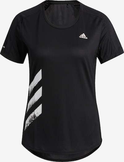 ADIDAS PERFORMANCE T-Shirt 'Run It' in schwarz / weiß, Produktansicht