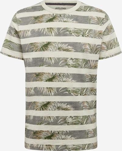 JACK & JONES T-Shirt in beige / grau / grün, Produktansicht