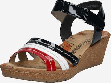 Sandales à lanières RIEKER en noir