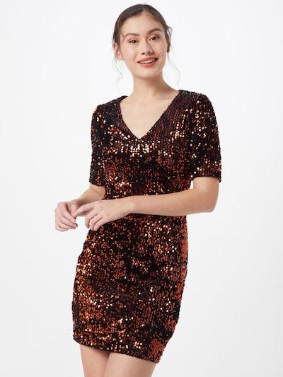 PIECES Sukienka 'PCJUDIE SS SEQUINS DRESS' w kolorze brąz / czarnym: Widok z przodu