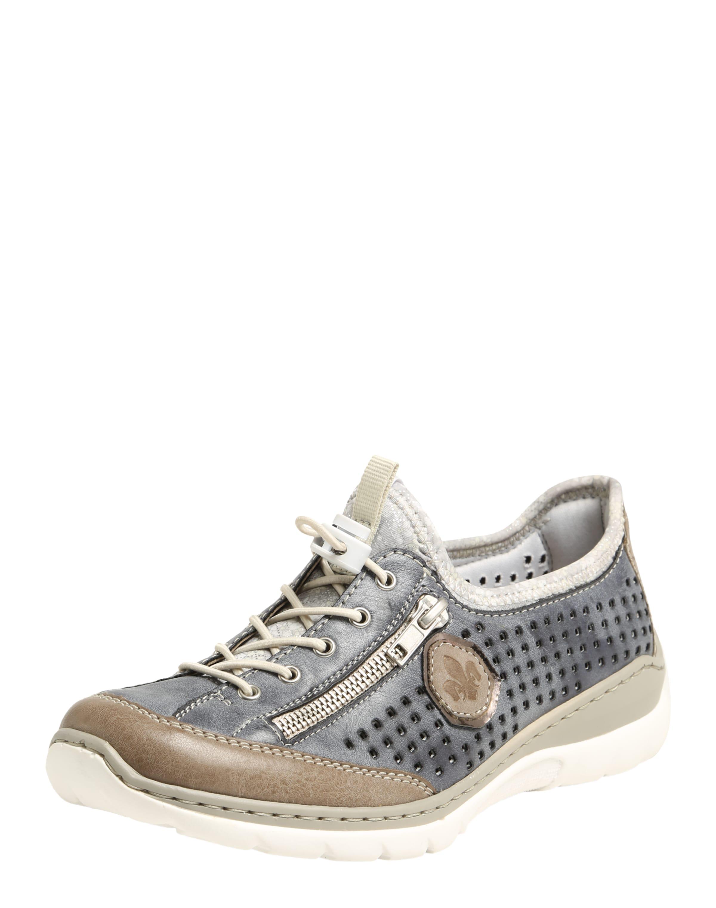 RIEKER Halbschuh mit Lochmuster Verschleißfeste billige Schuhe
