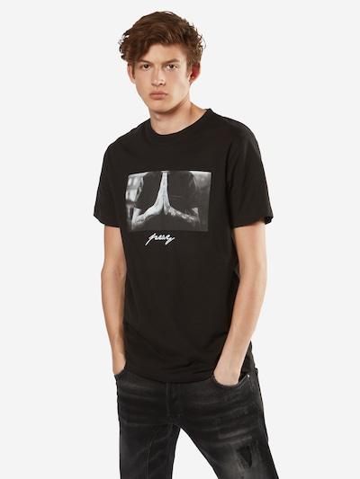 Mister Tee T-Shirt 'Pray' in schwarz: Frontalansicht