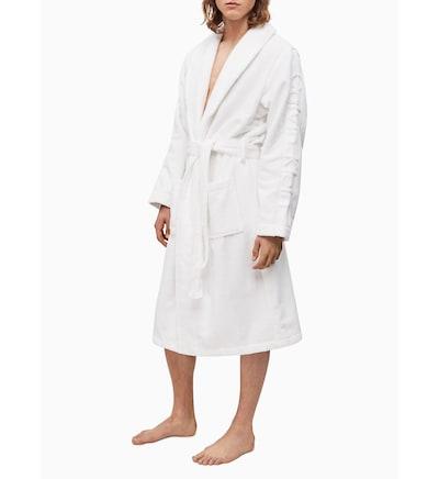 Calvin Klein Underwear Badjas lang  in de kleur Wit, Modelweergave