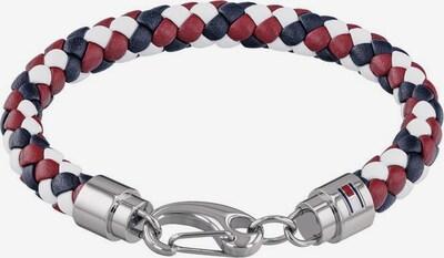 TOMMY HILFIGER Armband 'Casual Core 2790046' in dunkelblau / dunkelrot / silber / weiß, Produktansicht