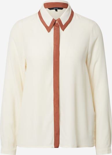 Vero Moda Petite Bluse 'VMFRAN LS SHIRT WVN PETITE' in weiß / offwhite / naturweiß, Produktansicht