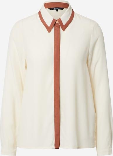 Vero Moda Petite Blouse 'VMFRAN LS SHIRT WVN PETITE' in de kleur Wit / Offwhite / Natuurwit, Productweergave