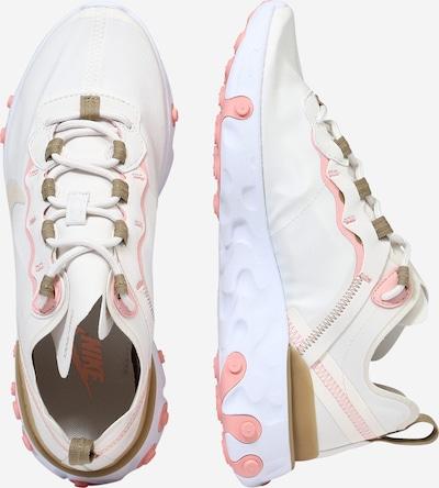 Nike Sportswear Baskets basses 'React 55' en beige / rose / blanc: Vue de profil