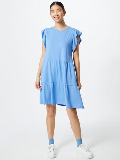 VILA Letné šaty - dymovo modrá: Pohľad spredu