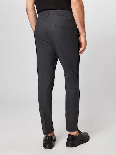 DRYKORN Pantalon à pince en gris foncé / noir: Vue de dos