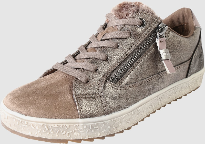 TOM TAILOR | Sneaker mit Fell-Besatz