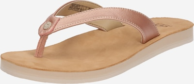 UGG Teenslipper 'Tawney Metallic' in de kleur Lichtbeige / Rose-goud, Productweergave