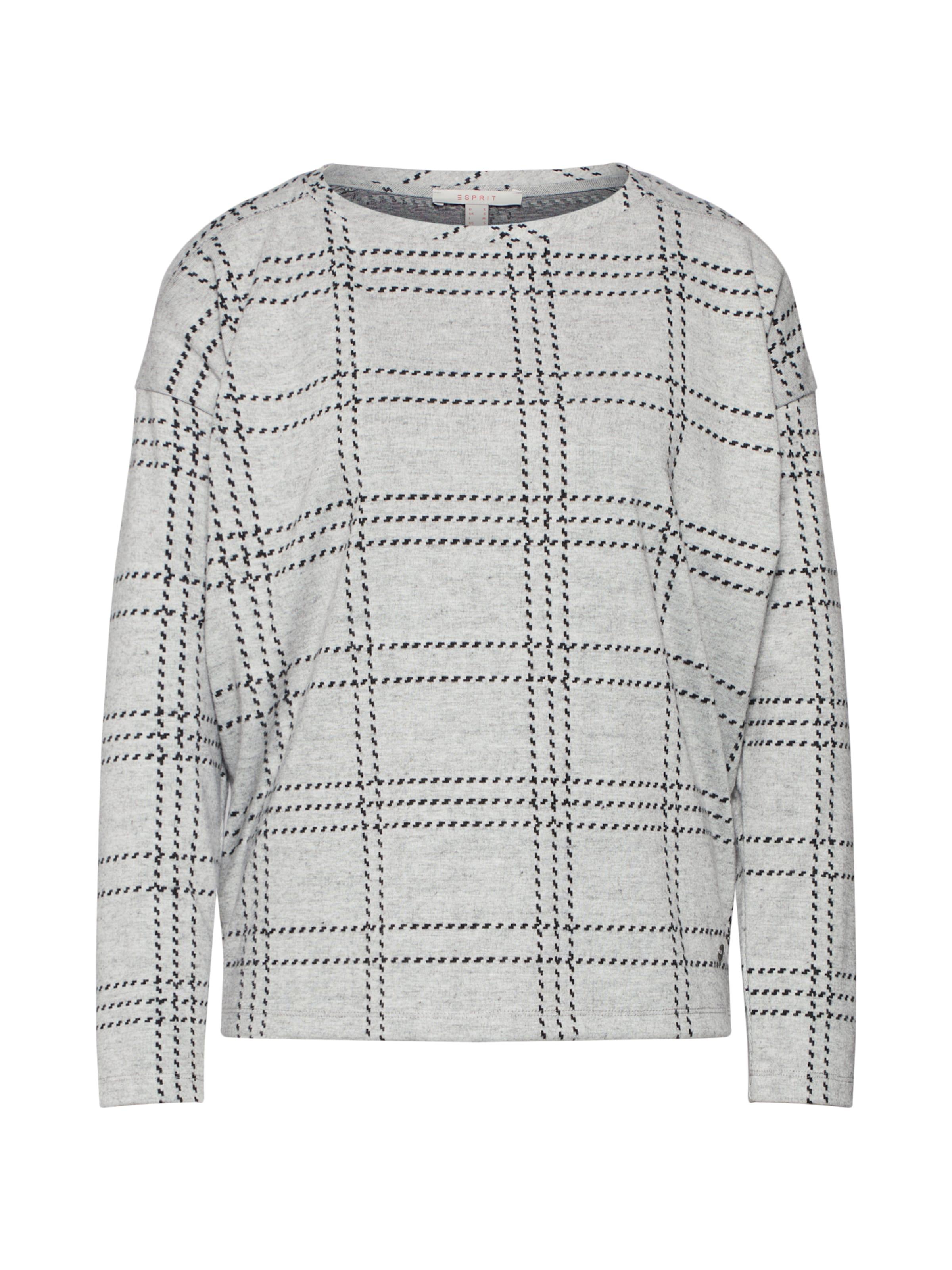 En Sweat shirt ClairNoir Esprit Gris tQxhrdCsB