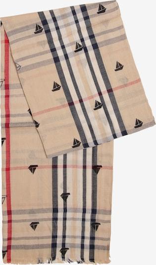 Franco Callegari Schal in beige / nachtblau / rot / weiß, Produktansicht