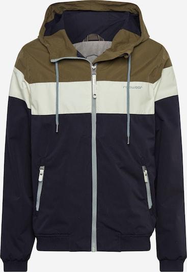 Ragwear Functionele jas 'JAYCE' in de kleur Olijfgroen / Zwart / Wit, Productweergave