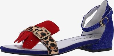 Lola Ramona Sandalen in blau / braun / hellbraun / rot, Produktansicht