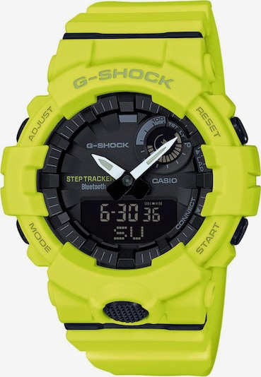 CASIO Chronograph 'GBA-800-9AER' in gelb / schwarz: Frontalansicht