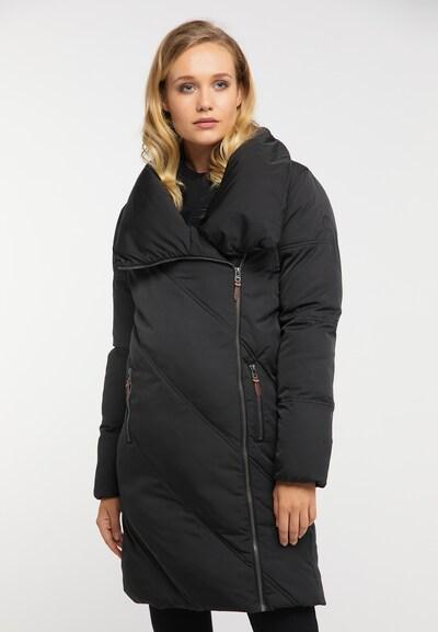 DREIMASTER Wintermantel in schwarz, Modelansicht