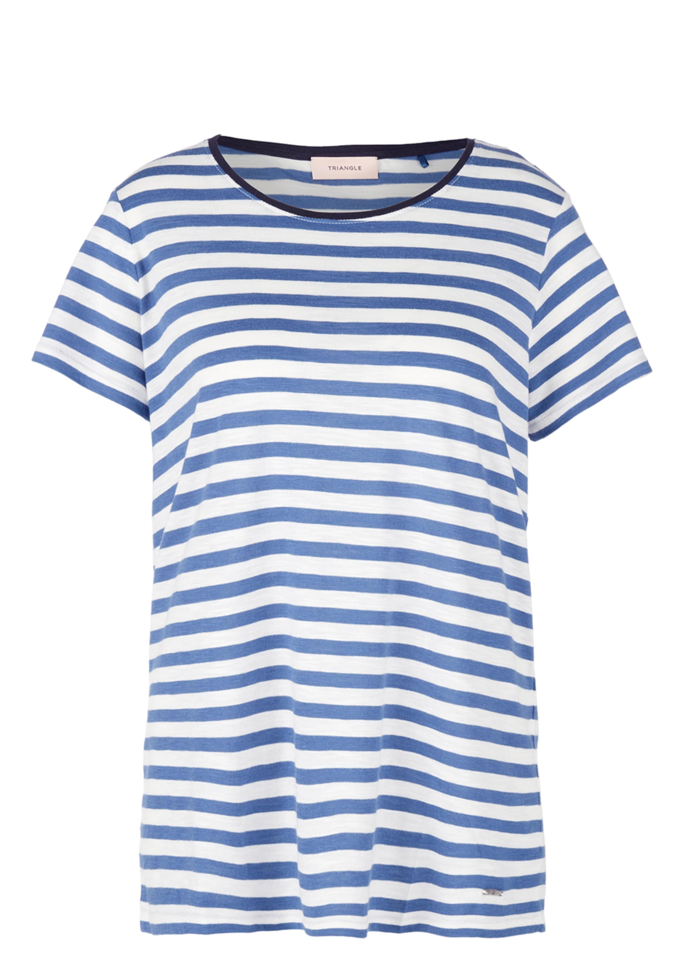 Weiß Triangle BlauSchwarz Shirt Shirt In Triangle Nw08nm