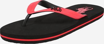 POLO RALPH LAUREN Slipper 'WHITLEBURYII' in rot / schwarz, Produktansicht
